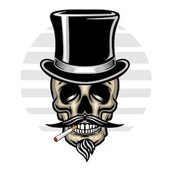 Старинный череп в шляпе