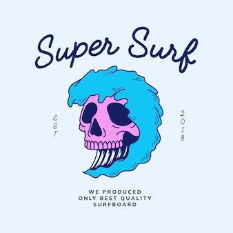 Vintage skull and word design vector