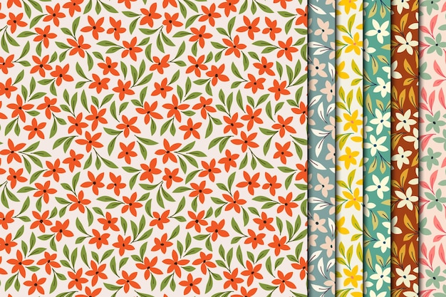 Vintage small flowers seamless pattern