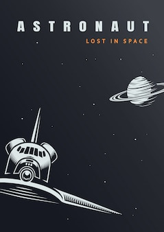 Vintage space discovery template