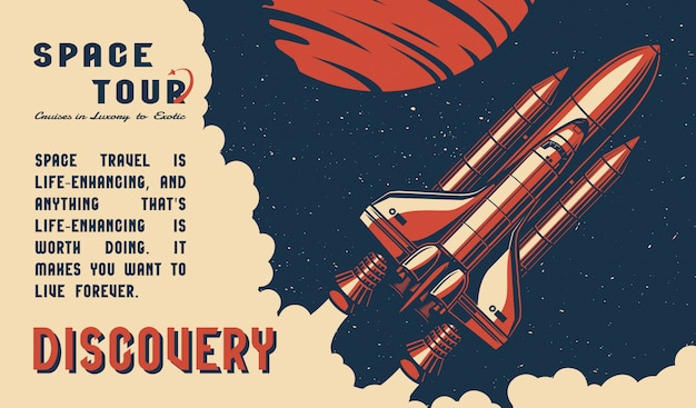 Vintage space tour template