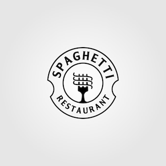 Vintage spaghetti pasta instant noodle logo