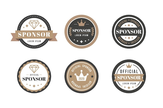 Vintage sponsor label collection