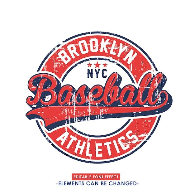 Визуальный спортивный шрифт и значок