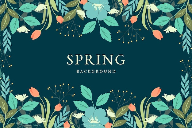 Vintage spring background concept