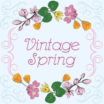 Vintage spring bakcground
