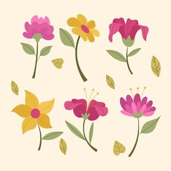 Vintage spring flower collection