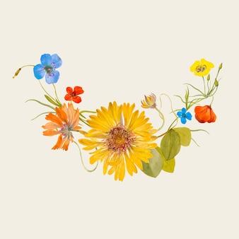Illustrazione vintage di fiori primaverili, remixata da opere d'arte di pubblico dominio