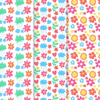 Vintage spring pattern collection