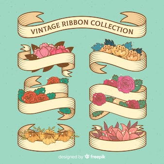 Vintage spring ribbon collection