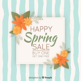 Vintage spring sale background