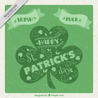 Vintage st patrick's day background in green tones