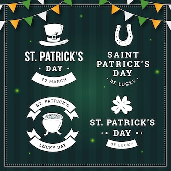 Vintage st. patrick's day badges