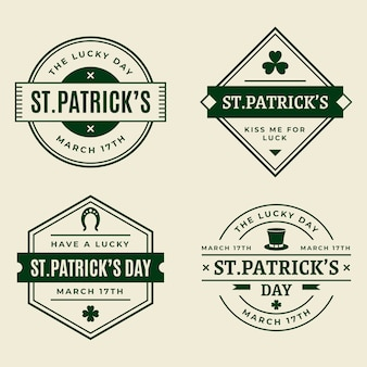Vintage st. patricks day badge collection