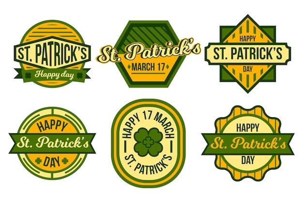 Vintage st. patricks day label collection