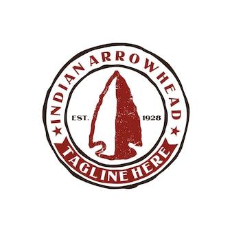 ヴィンテージスタンプインドの矢じりのロゴ