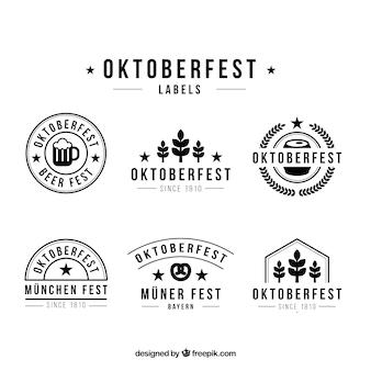 Vintage stickers of oktoberfest festival