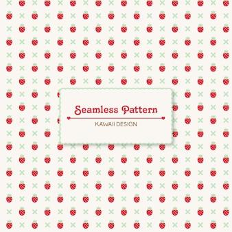 ヴィンテージのイチゴのシームレスパターン