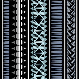 Vintage stripes african tribal pattern