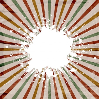 Vintage style background with a grunge starburst effect