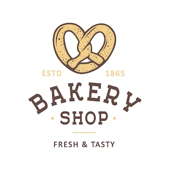 Vintage style bakery shop label, badge, logo