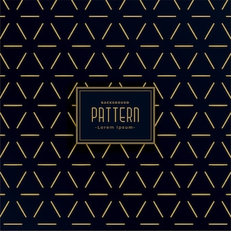 ビンテージスタイルのブラックとゴールドの幾何学的なラインパターン