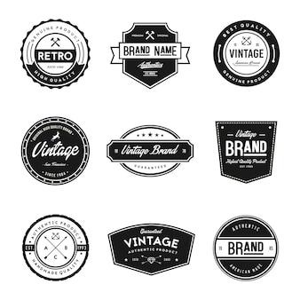 Vintage Style Brand Badges