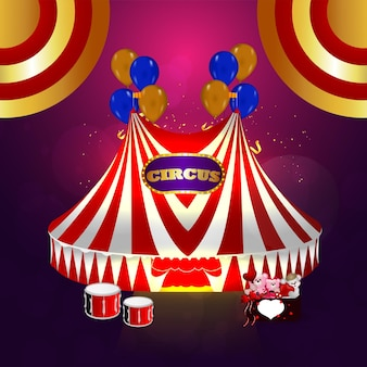 Vintage style on circus background