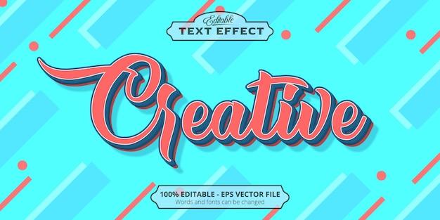 Vintage style editable text effect, creative text