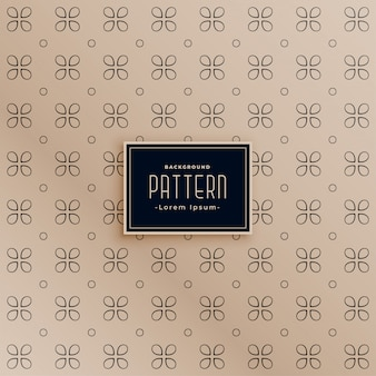 Vintage style elegant flower shape pattern background