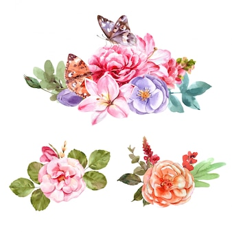 빈티지 스타일 꽃 꽃다발