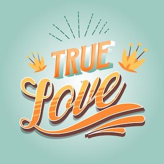 Винтажный стиль для любовной надписи