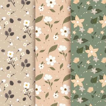 봄 패턴 빈티지 스타일