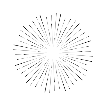 Vintage style of the image design elements for your projects hipster style light rays of burst great for retro style projects vector sunbursts firework
