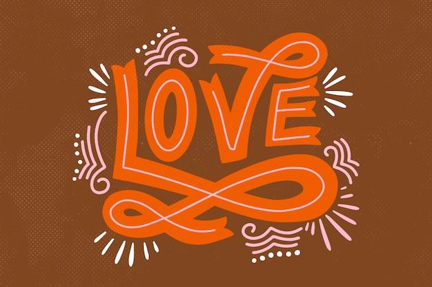 Винтажный стиль любви надписи