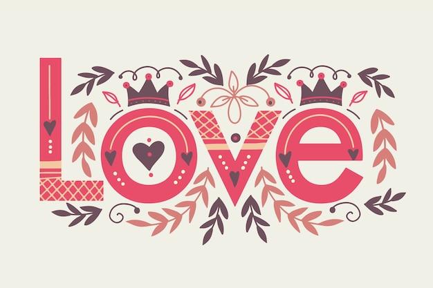 Vintage style love lettering