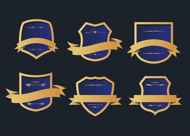 ヴィンテージスタイルのレトロなエンブレムラベルコレクション。