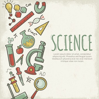 Vintage style science education background