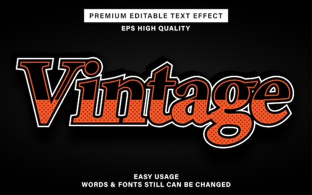 Vintage style text effect
