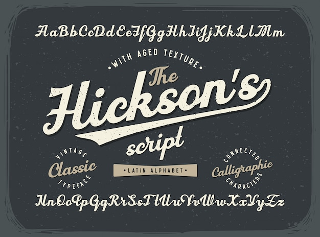 Vintage style textured font