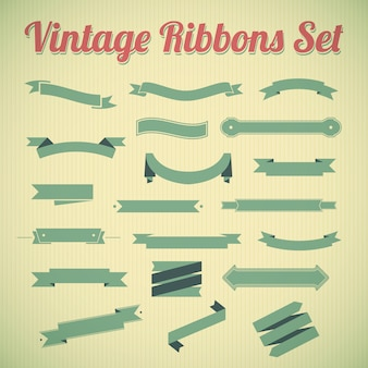 Vintage styled ribbons collection.