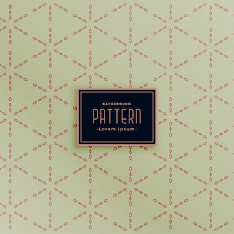 Vintage stylish geometric pattern background