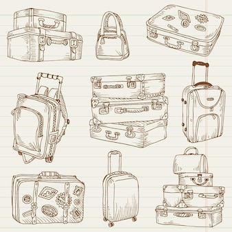 Vintage suitcases - for design and scrapbook