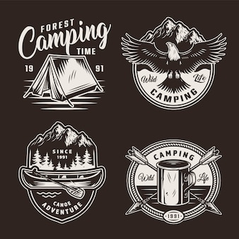 Vintage summer adventure badges