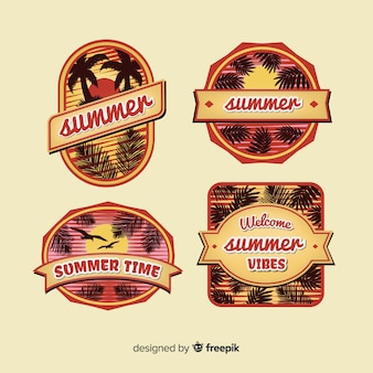 Vintage summer badge collection