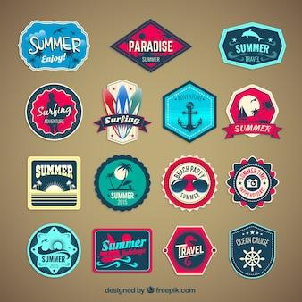 Vintage summer badges