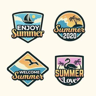 Винтажные летние значки