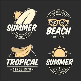 빈티지 여름 레이블 개념