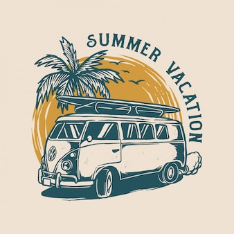 Vintage summer logo design
