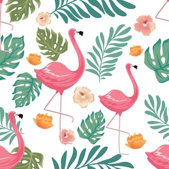 Vintage summer pastel color floral flower seamless pattern